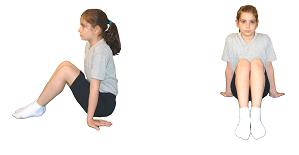 temel jimnastik duruşları Bacaklar Bükülü Oturuş