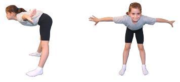 temel jimnastik duruşları Kartal duruşu