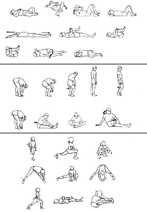 resimli ısınma hareketleri, germe hareketleri, resimli jimnastik hareketleri